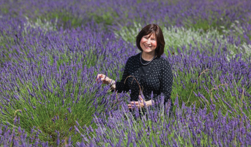 Rivka in field of lavender