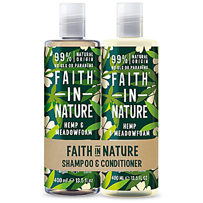 2 in 1 Pack - Shampoo & Conditioner Hennep & Meadowfoam