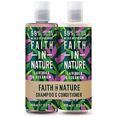 2 in 1 Pack - Shampoo & Conditioner Lavendel & Geranium